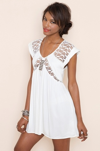 Nasty Gal White Almost Innocent Dress