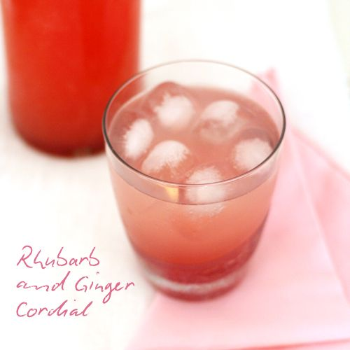 Yummy with vodka...Rhubarb and Ginger Cordial