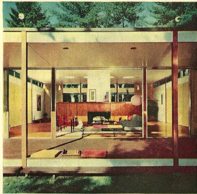open plan midcentury home mid century modern design pinterest