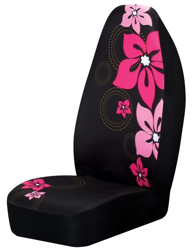 Pink Flower Car Seat Cover CarDecor