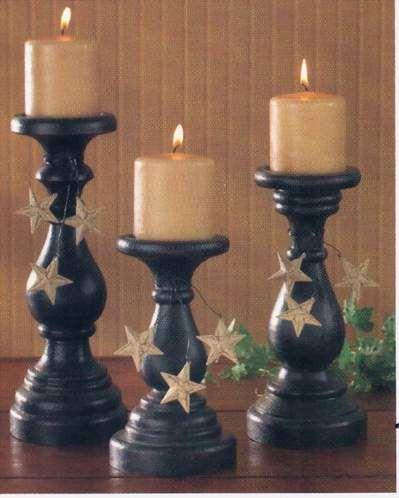 candlesticks | Crafts - Country/Primitive | Pinterest