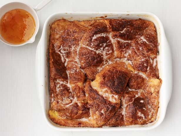 Baked Croissant French Toast With Orange Syrup Recipe http://www ...