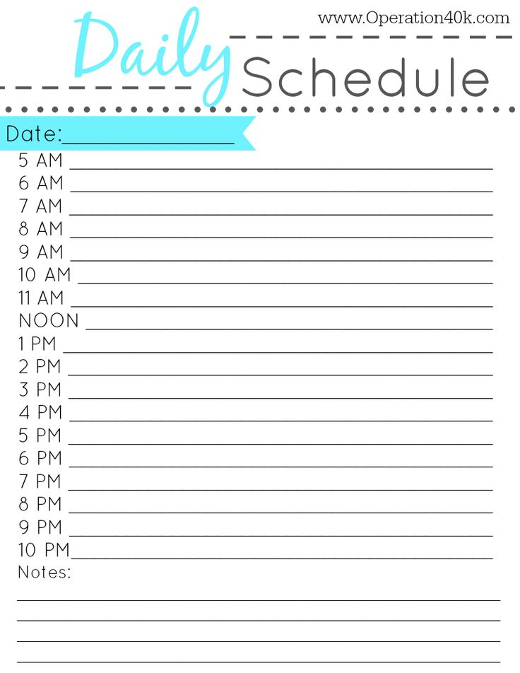Best 25+ Free Schedule Cards Ideas On Pinterest | Classroom .  Daily Routine Chart Template