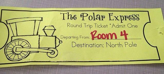 Tickets to board the Polar Express! | Kindergarten | Pinterest