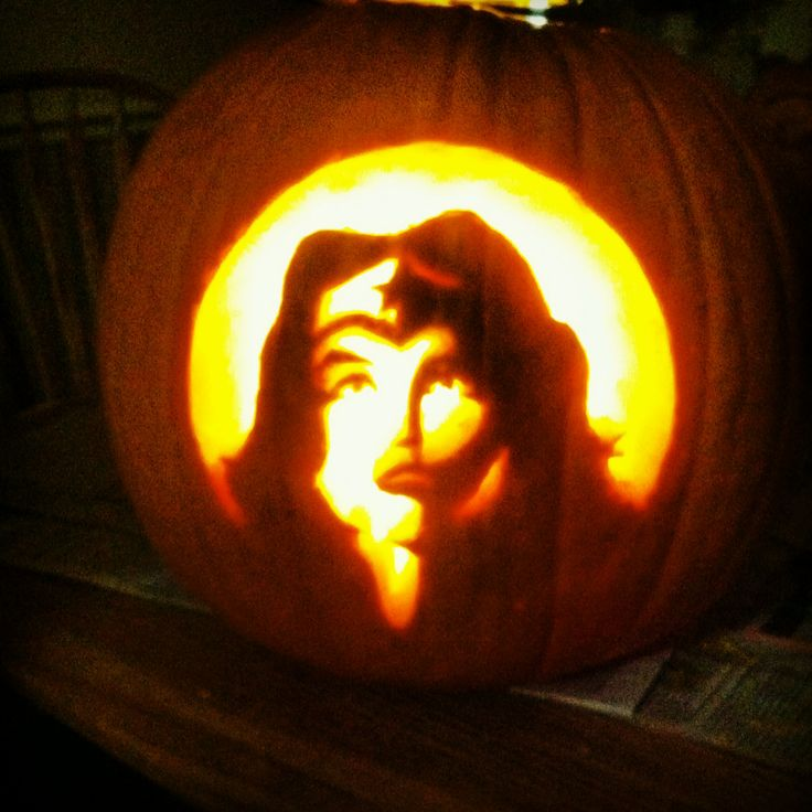 Wonder woman pumpkin carving dc comics