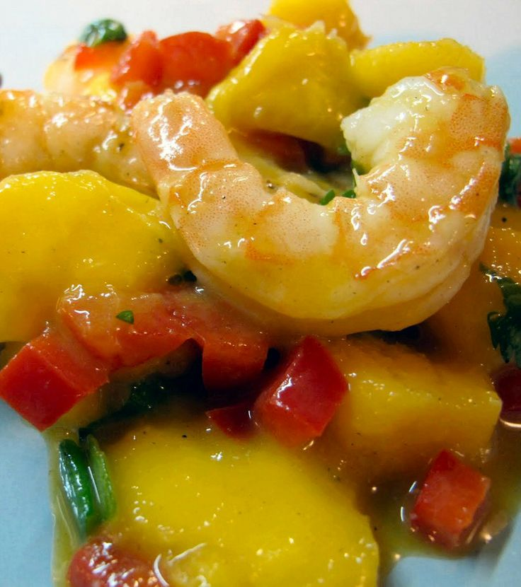 Fresh Mango Shrimp Salad | Eating right | Pinterest