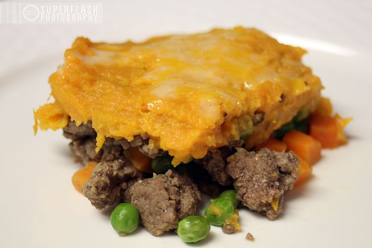 beef (which technically makes it a cottage pie) & sweet potatoes ...