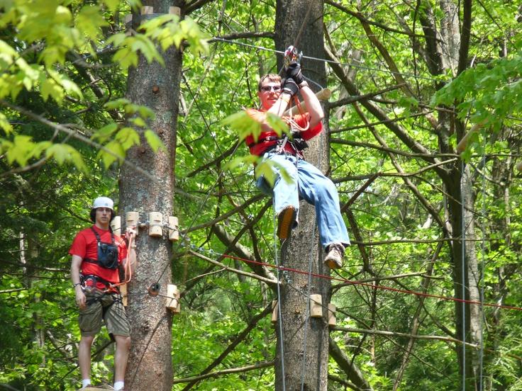 summertime ziplines at the Gunstock Mountain Adventure Park