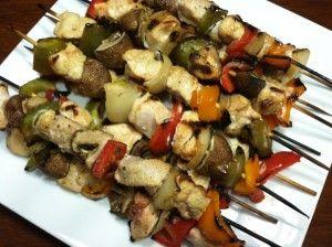 Grilled Chicken Fajita Kabobs | Paleo/Low Carb | Pinterest