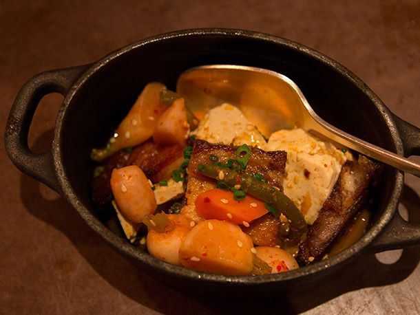 Pork belly with tofu and kimchi | Foodie | Pinterest