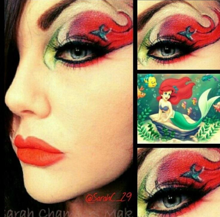 Little mermaid makeup