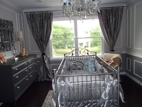 Silver and Grey Hollywood Glamour Room Baby