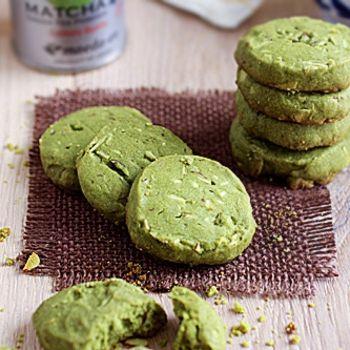 Matcha Almond Cookies   Biscuits/Slices/Healthbars   Pinterest