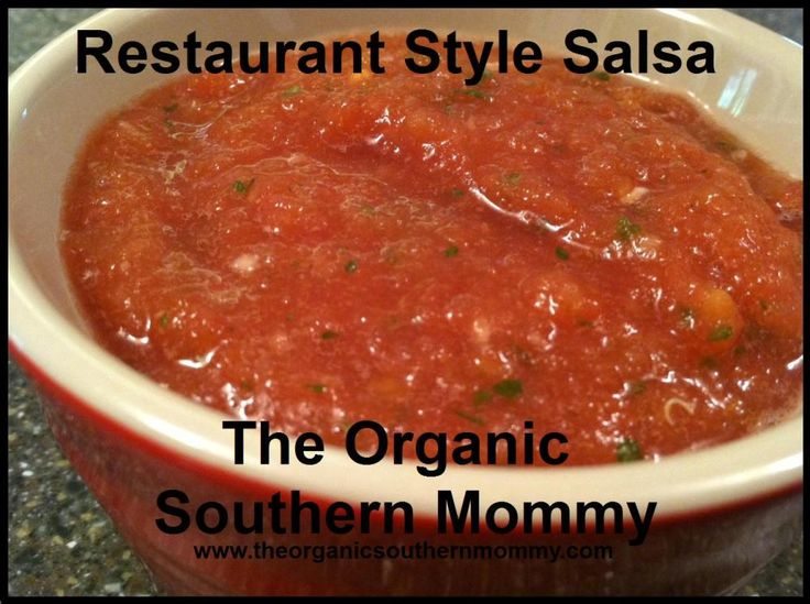 Restaurant Style Salsa | Food | Pinterest