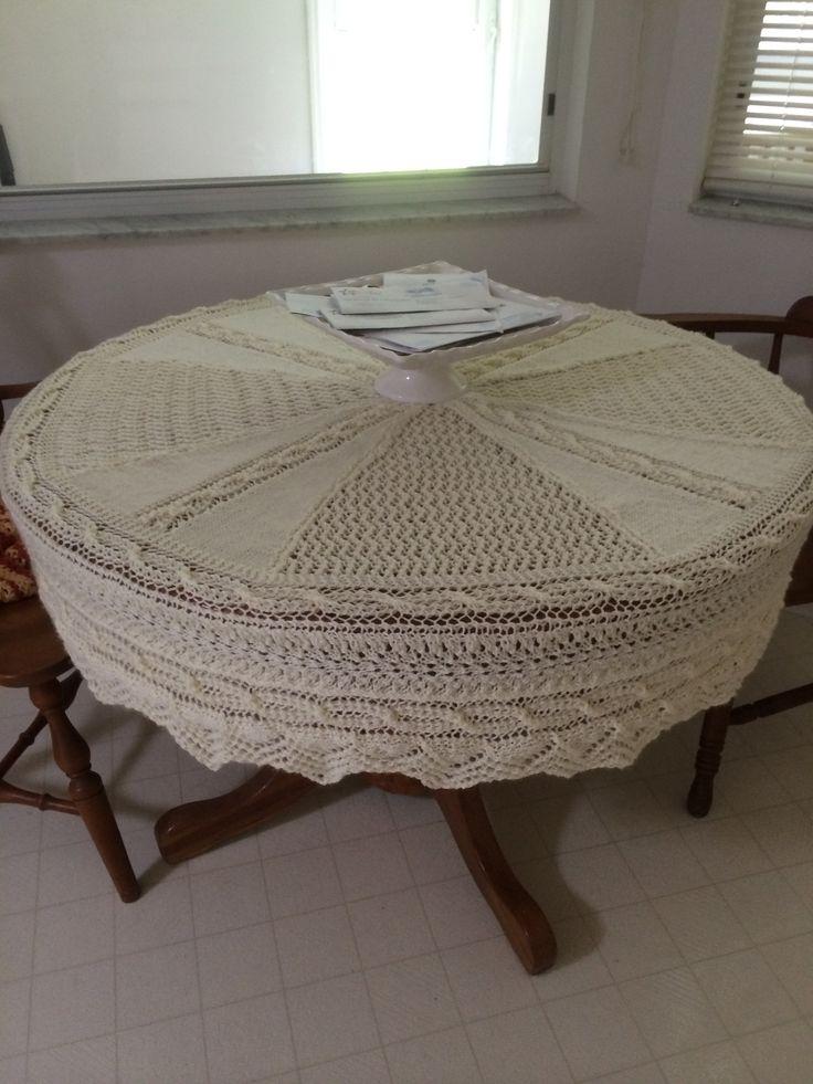 Knit table cloth | Crochet/knit