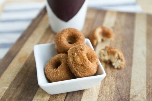 whole wheat banana nut mini doughnuts - naturally ella