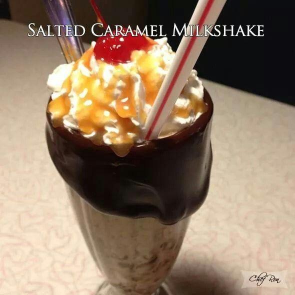Salted Caramel Milkshake | Favorite Desserts | Pinterest