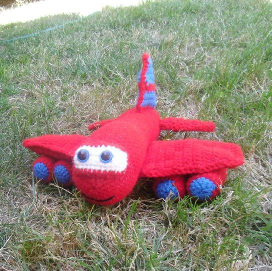 Crocheting On A Plane : Red the Airplane Crochet Pattern by MelissasPatterns on Etsy, $3.50