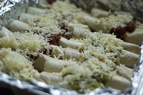 Chicken and White Bean Burritos with Salsa Verde
