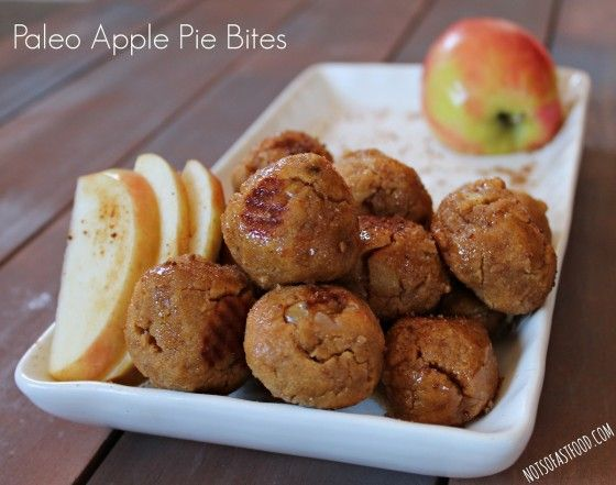 Paleo Apple Pie Bites - Not So Fast Food | Food for Thought | Pintere ...