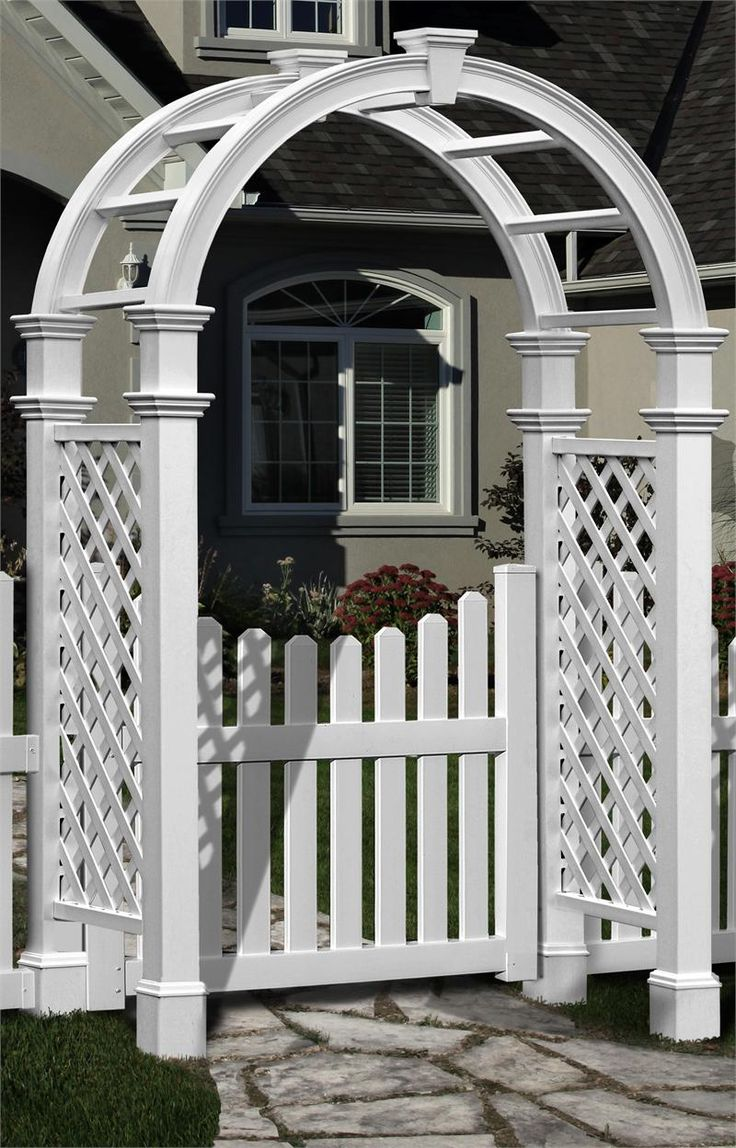 arbor with gate arbors pinterest