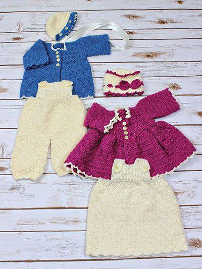 Matinee Jacket Dungaree Crochet Pattern Want List ...