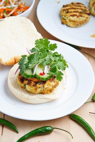 Chicken Satay Burgers | Recipe
