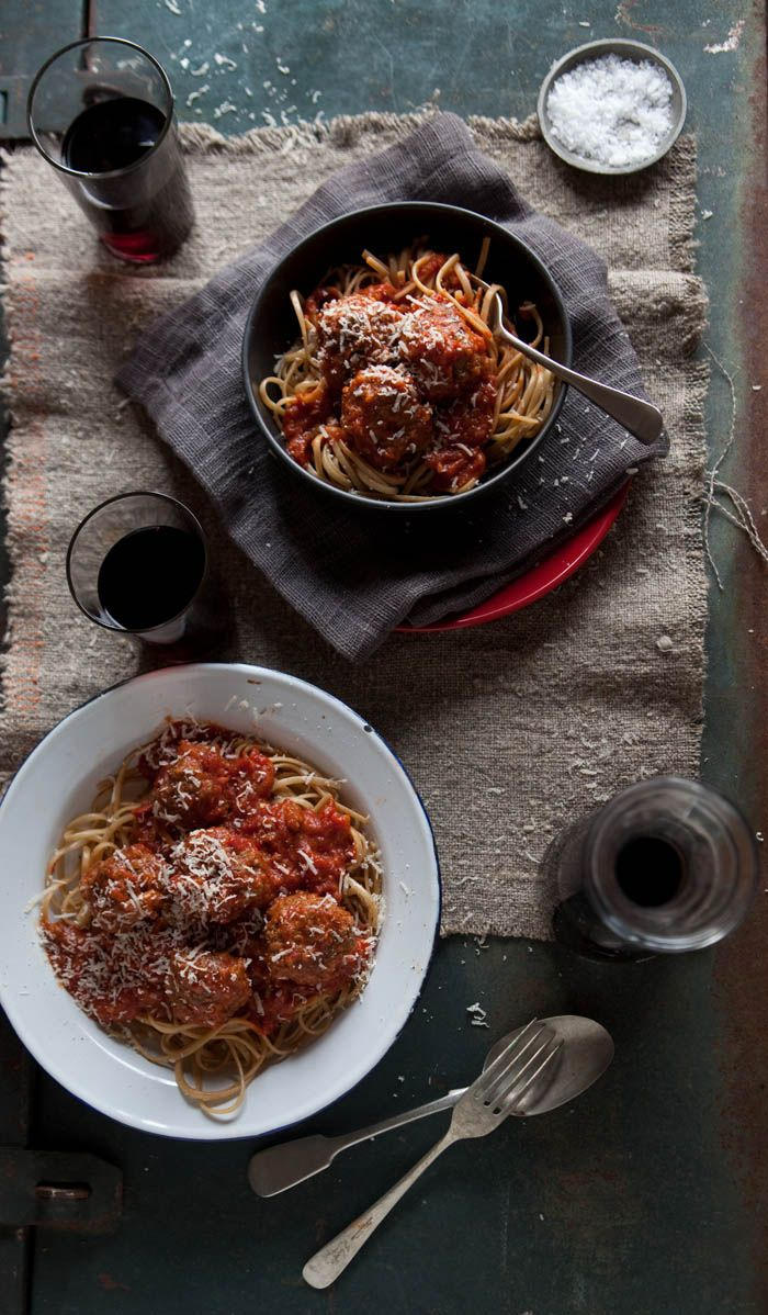 Fettuccine With Turkey Meatballs And Smoky Sauce Recipe — Dishmaps