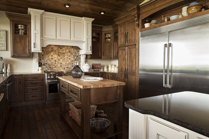Knotty Alder Walnut With Black Glaze Cabinetry Shiloh