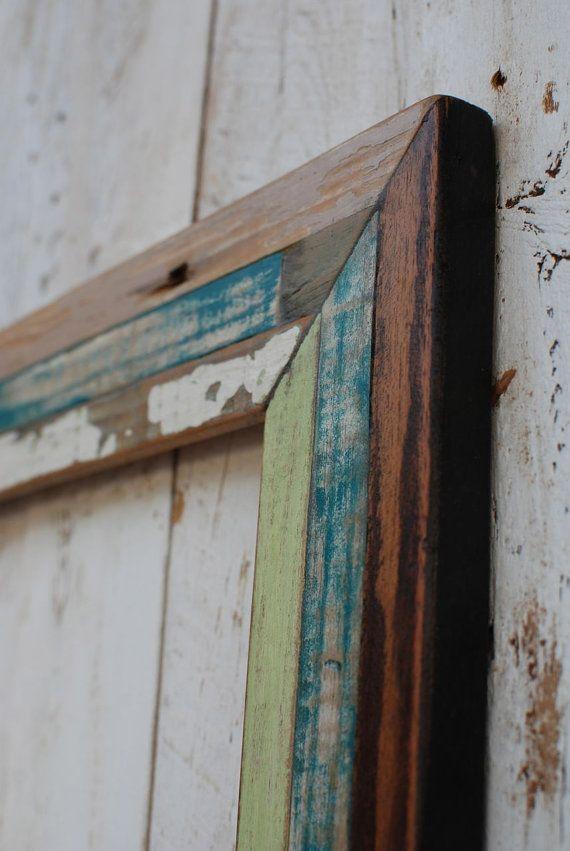 Design Of Reclaimed Wood Mirror : 18x36 rustic reclaimed wood mirror quilt design by oldlikenew