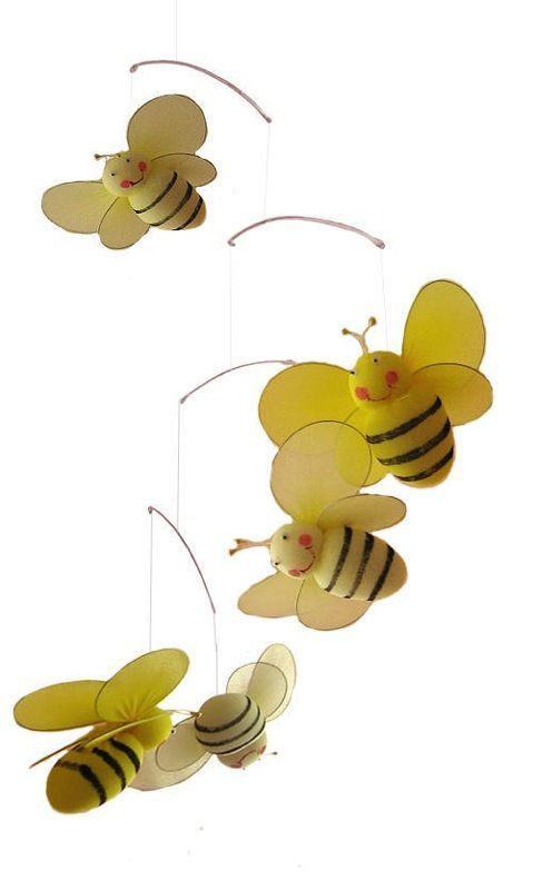 Bumblebee bumble bee mobile child nursery room decor for Bumble bee mural