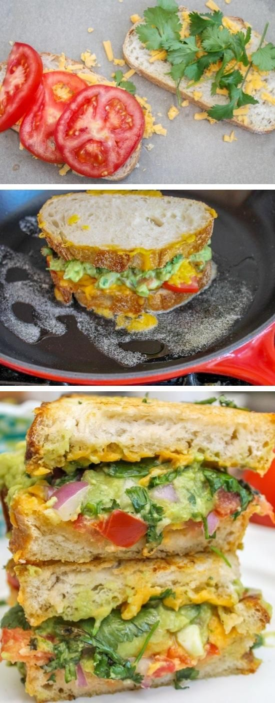 Guacamole Grilled Cheese Sandwich | Noms | Pinterest