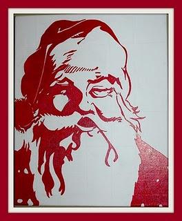 Santa on canvas christmas pinterest