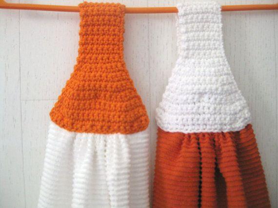 Free Pattern Crochet Kitchen Towel Topper : Towels, Kitchen Towels with Crochet Topper, 2 Piece ...