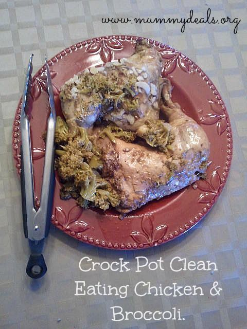 Crock Pot Clean Chicken and Broccoli | Get Skinny | Pinterest