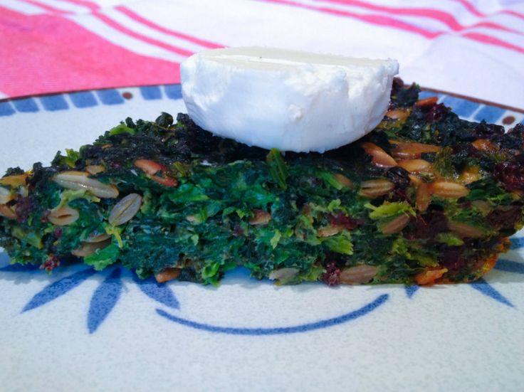 Crustless Kale Quiche by Dana Kim Talk about a tongue twister! It's ...