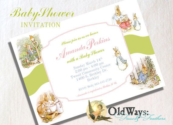 peter rabbit baby shower invitation boy by oldwaysfussnfeathers 15