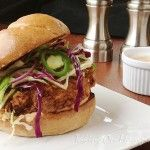 Fried Chicken Sandwiches with Slaw and Spicy Mayo from Bon Appetit Ma ...