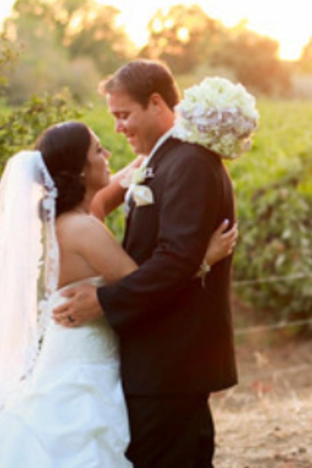 Sunset wedding photos by Neisha Fulton