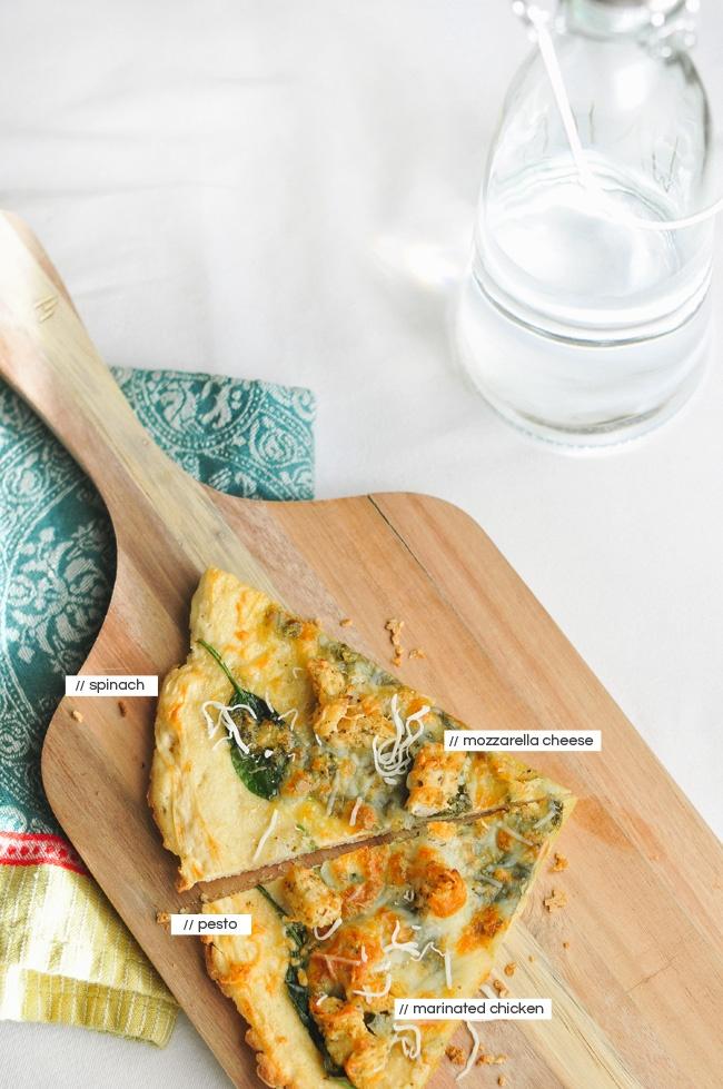 gluten free chicken pesto pizza | Gluten Free | Pinterest