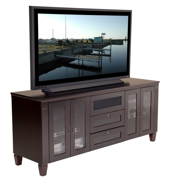 furnitech ft72tc 70 wide transitional tv stand console. Black Bedroom Furniture Sets. Home Design Ideas