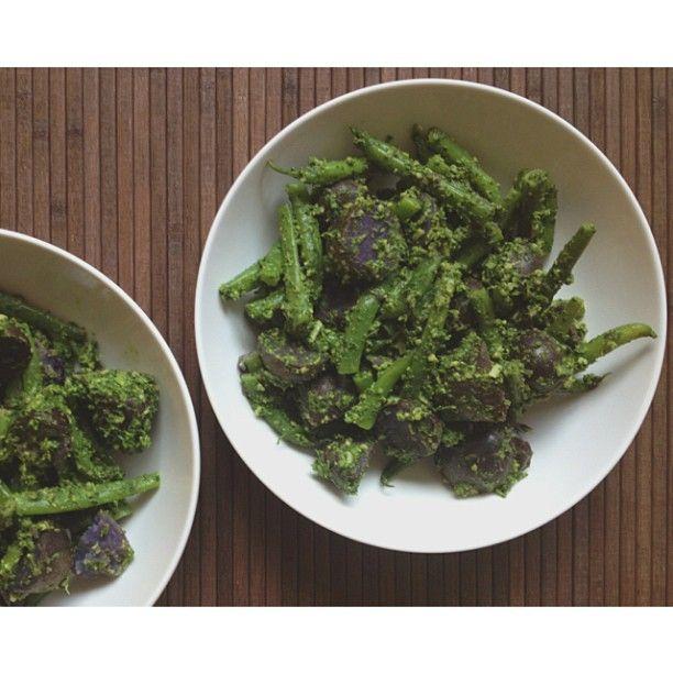 Potato And Green Bean Salad With Arugula Pesto Recipes — Dishmaps