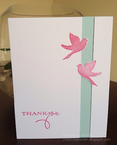 Floating birds thank you card