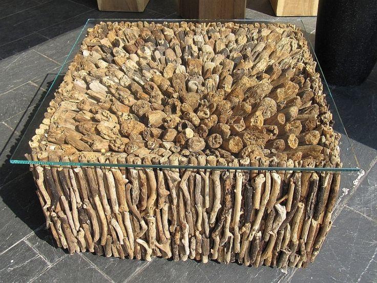 tafel van drijfhout   Idee om te zelf te maken   Pinterest