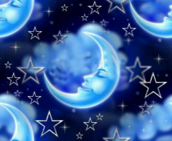 Animated Stars And Moon