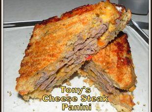 Tony's Cheese Steak Panini Recipe | Sandwiches, Wraps, Calzones et al ...