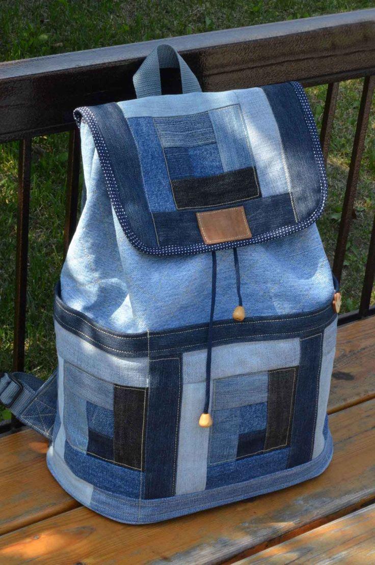 Джинсовый рюкзак своими руками мастер класс фото