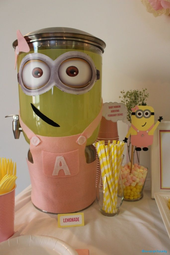 minion baby shower lemonade perfect party pinterest