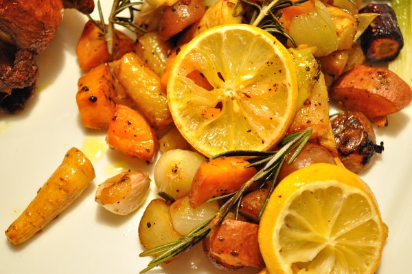 Roasted Vegetables with Garlic, Rosemary & Lemon, know at Chez Gypsy ...