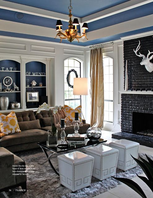 Love The Painted Black Brick Fireplace Making A House A Home Pin